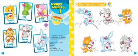 Happy Hearts 1 - Pupil´s Book (+ Stickers, Press Outs, Extra Optional Units & multi-ROM PAL)