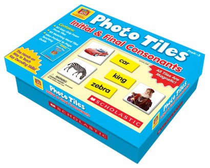 Scholastic - Little Red Tool Box - Photo Tiles: Initial & Final Consonants